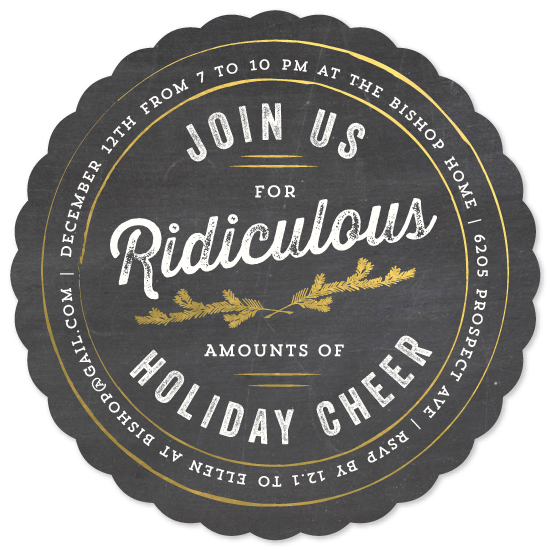 party invitations - Join us for Ridiculous Cheer by Kaydi Bishop
