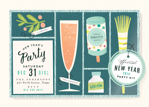 party invitations - New Year's Party Kit by Lori Wemple