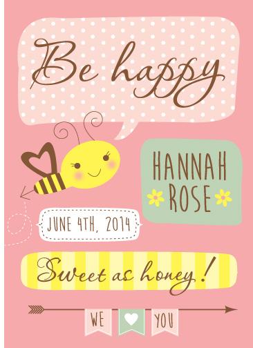 art prints - Bee Happy by Michelle Blum