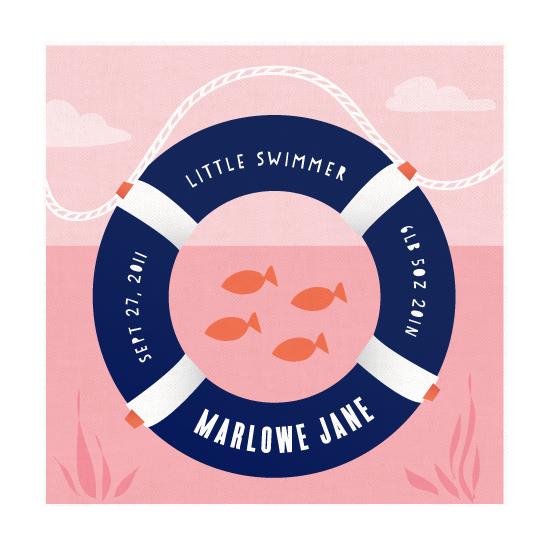art prints - Little Swimmer by Carolyn MacLaren