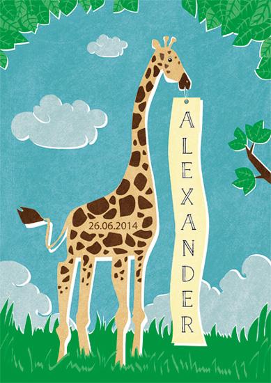 art prints - little giraffe by jody-claire
