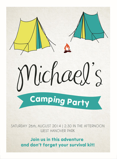 art prints - Camping Party by Fabia Moura