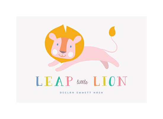 art prints - Leap Little Lion by Melanie Pavao