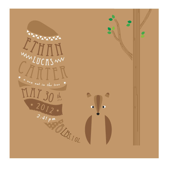 art prints - Nut in the Tree by Rose Design