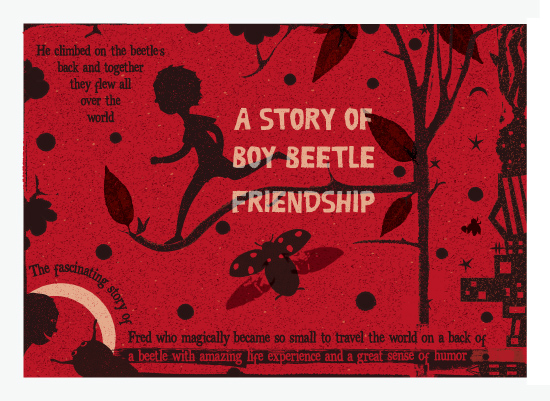 art prints - Boy beetle friendship by Tali Levanon