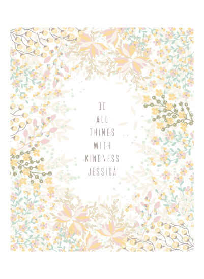 art prints - All things with Kindness by Phrosne Ras