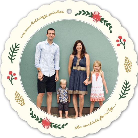 holiday photo cards - Simple Wreath by Erica Krystek