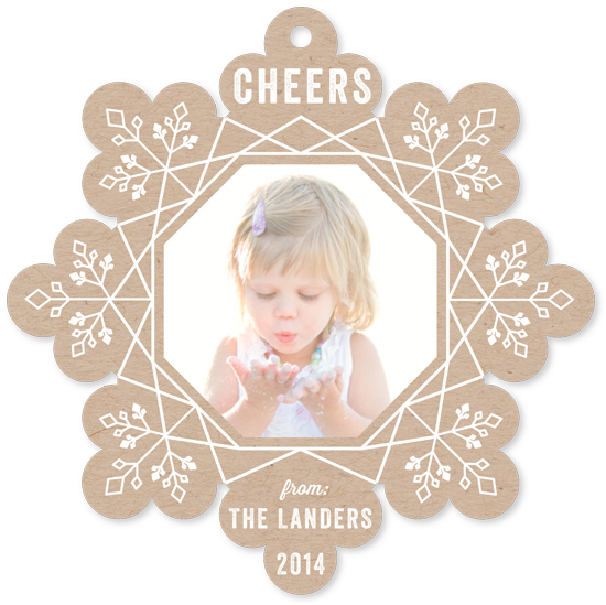 holiday photo cards - Cheer flake by Chasity Smith