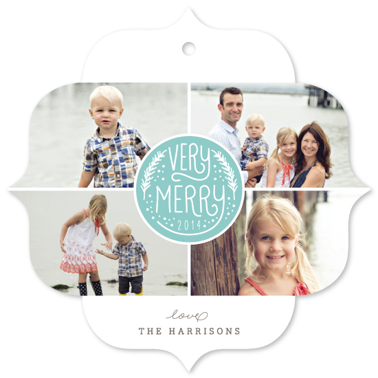 holiday photo cards - Very Merry Quads by Lehan Veenker