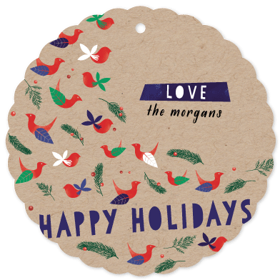 holiday photo cards - chirp chirp by Anna Elder
