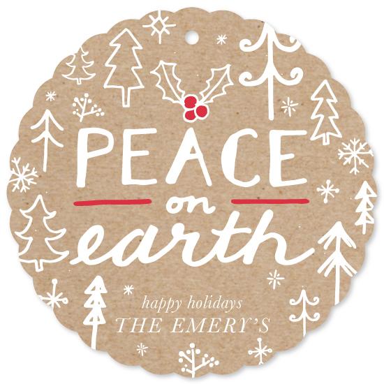 holiday photo cards - Peace and Trees by Katrina Robert