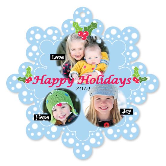 holiday photo cards - holiday snowflake by Seo Yoon Jung