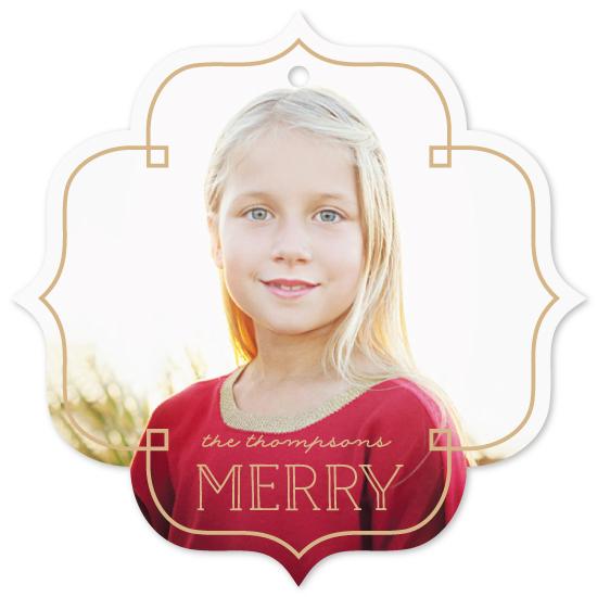 holiday photo cards - Deco Frame by Hooray Creative