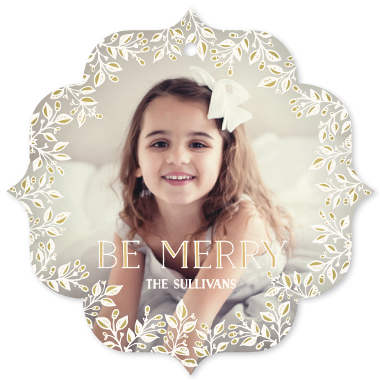 holiday photo cards - Merry Little Florals by GeekInk Design