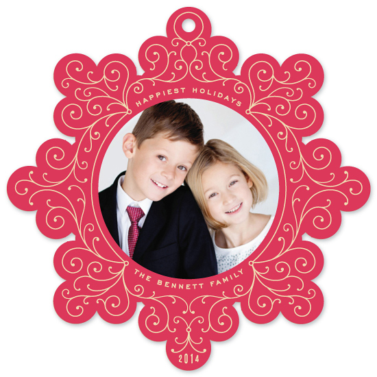holiday photo cards - Vintage Swirl by Hooray Creative