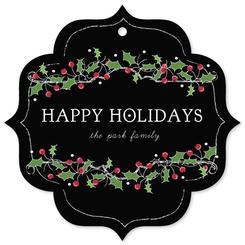 christmas mistletoe doodle ornament card