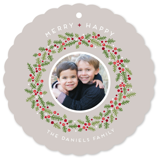 holiday photo cards - Merry + Happy by Lynn and Lou Paper Co