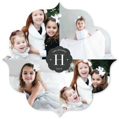 holiday photo cards - family monogram by Sara Hicks Malone