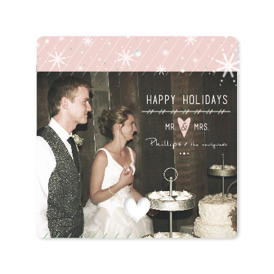 holiday photo cards - Newlywed Happy Holidays by Cara Van Valkenburg