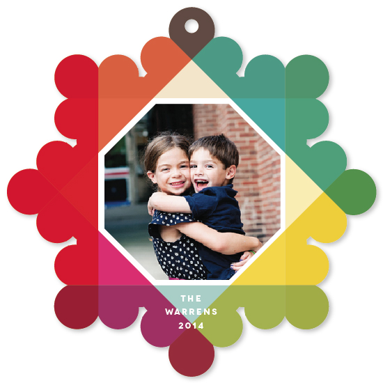 holiday photo cards - Bright Overprint by Up Up Creative