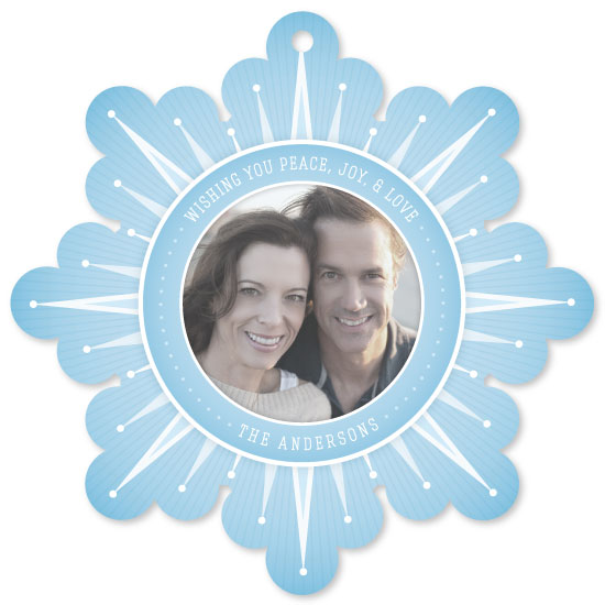 holiday photo cards - Modern Snowflake by Julie Reed