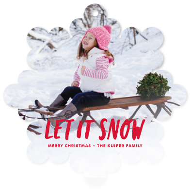 holiday photo cards - let it snow by Kimberly Chow