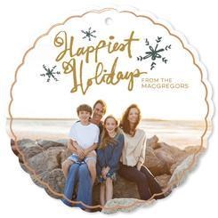 Happiest Holidays Handwritten