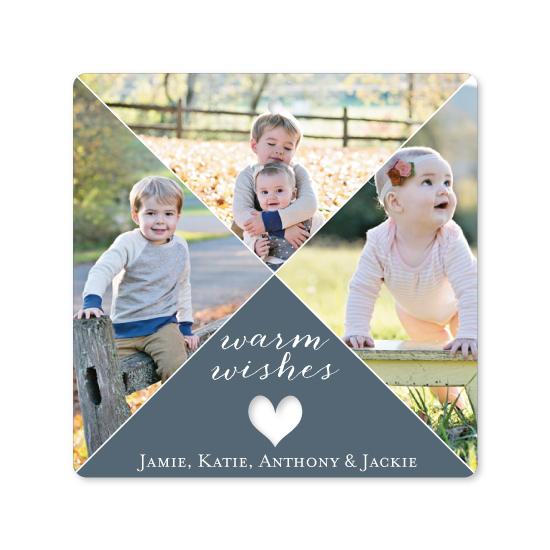 holiday photo cards - Triple the Warm Wishes by Katrina Robert
