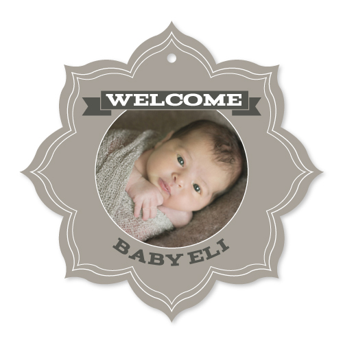holiday photo cards - Welcome Baby Snowflake by Katrina Robert
