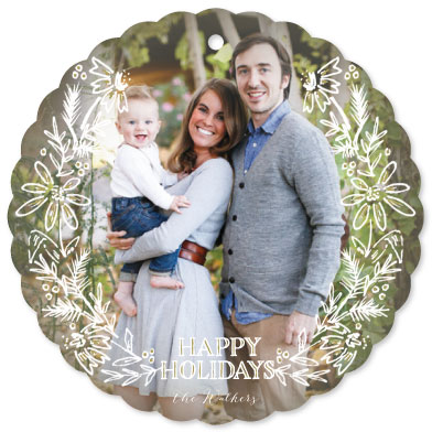 holiday photo cards - Hand Drawn Boughs by Grace Kreinbrink