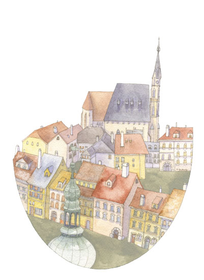 art prints - European Rooftops by Natalie Groves