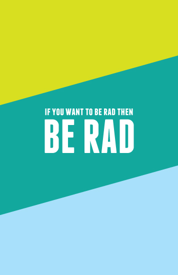 journals - Be Rad by Melissa DiRenzo