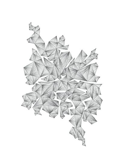 art prints - clustering shards by Naomi Ernest