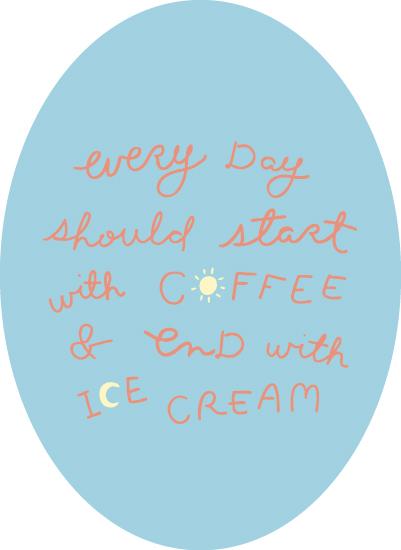 art prints - Coffee & Ice Cream by Kristen Dake