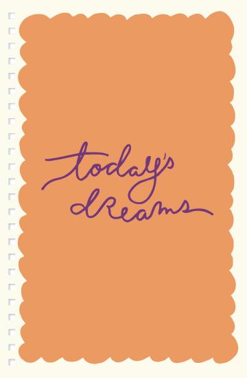 journals - Today's Dreams by Kristen Dake