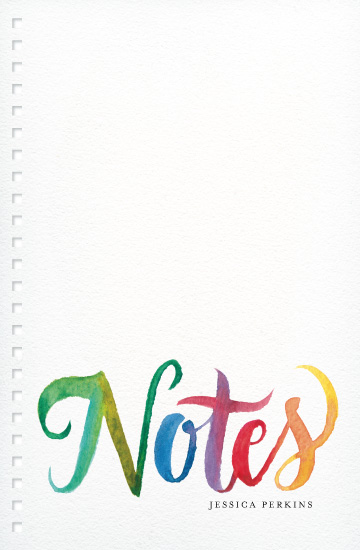 journals - Rainbow Notes by Laura Bolter Design
