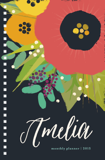journals - bold floral by Rebecca Bowen