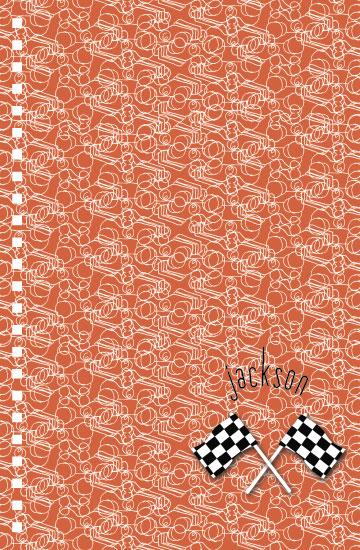 journals - race car collage by Megan Spinder