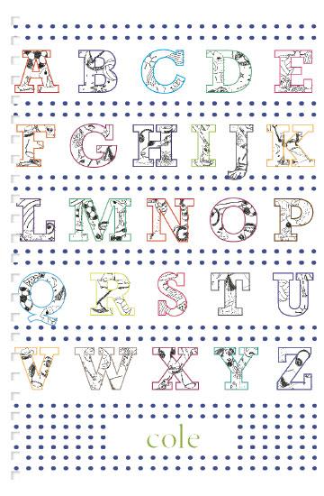 journals - alphabet line drawings by Megan Spinder
