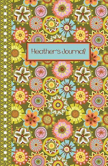 journals - Button Flowers by Mary Tanana