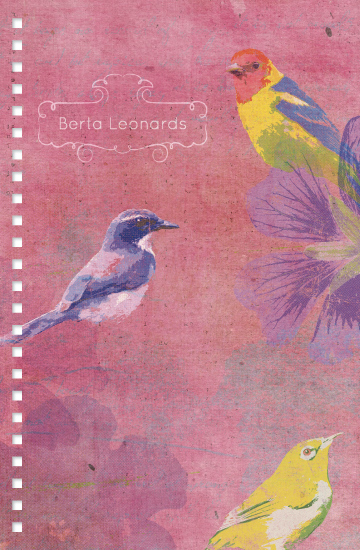 journals - colorful birds by Tali Levanon