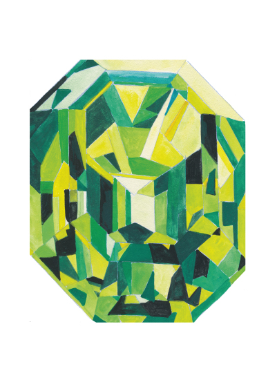 art prints - emerald by Paper Monkey Press
