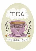 Tea is a hug in a cup by Lindsay Dale