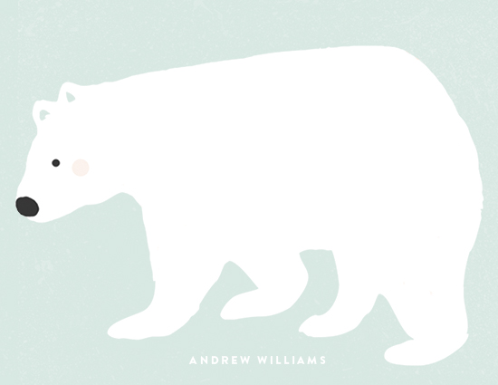 personal stationery - Big Polar Bear by August and Oak