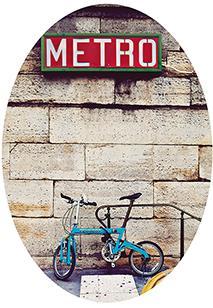 Paris Bicycle Metro Stop