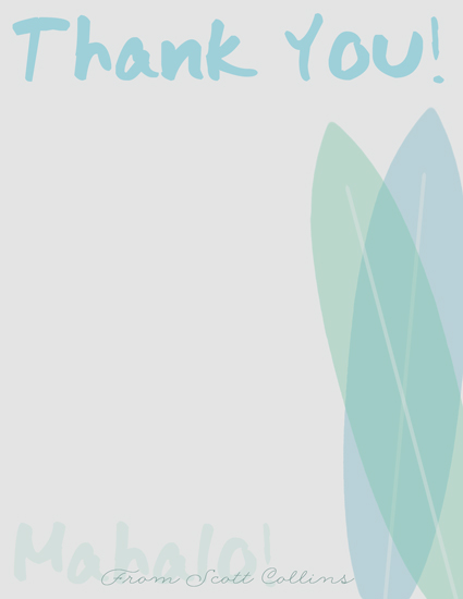 personal stationery - Mahalo! by Katherine Soares