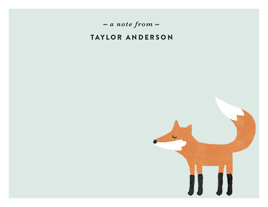personal stationery - Little Fox by August and Oak