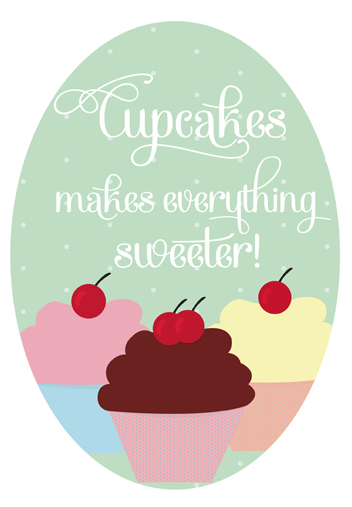 art prints - Sweet Cupcakes by Fabia Moura