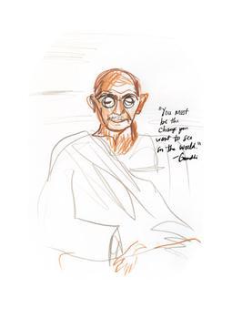 Meditating Gandhi