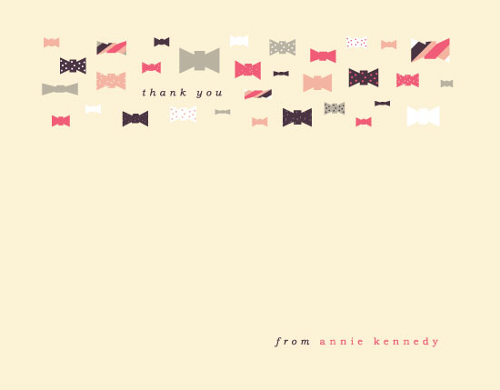 personal stationery - Take a Bow by Sam for Inviting Place